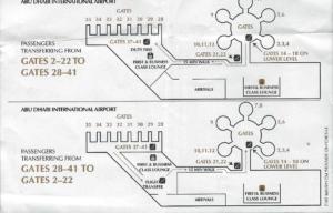 Plan lotniska w Abu Dhabi.