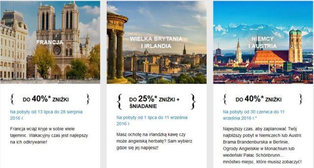 Błyskawiczna wyprzedaż AccorHotels - Francja, Wielka Brytania i Irlandia, Niemcy i Austria