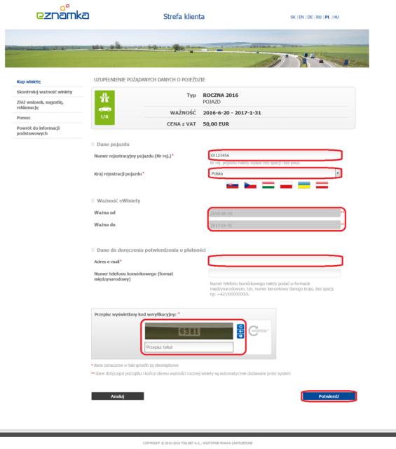 Winiety w Słowacji 2016 - portal eznamka gdzie możemy nabyć winietę drogą elektroniczną