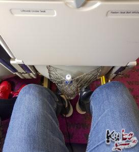 WOW air - ilość miejsca na nogi