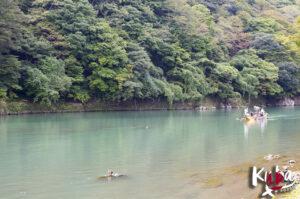 Most Togetsukyo - widok na rzekę Katsura