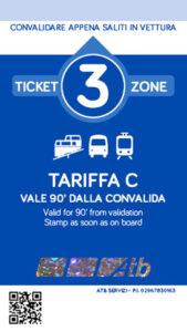 Bergamo - bilet 3Zone