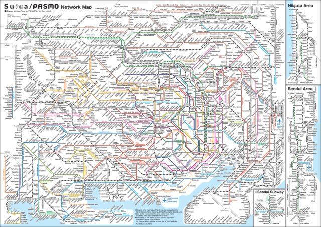 Metro w Tokio - plan linii. Na pierwszy rzut oka koszmar.