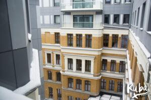 AC Hotel by Marriott Wrocław - widok na dziedziniec