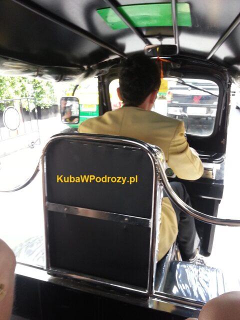 Prywatny tuk-tuk. Best Western Premier. Bangkok.