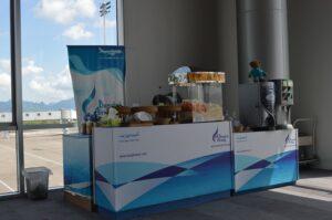 Lotnisko na Krabi - darmowe stoisko dla osób lecących Bangkok Airways