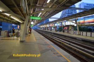 Stacja BTS Bangkok.