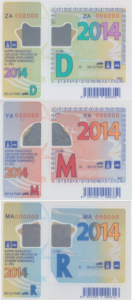 Winiety w Czechach - wzory winiet na rok 2014.