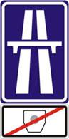 Winiety w Czechach - znak informujący o braku opłaty za przejazd.