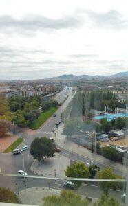 Ibis Barcelona Santa Coloma - widok z okna