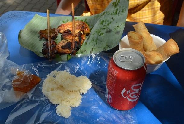 Tajlandia - typowe danie ze straganu