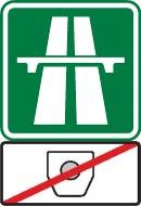 Winiety w Czechach – znak informujący o braku opłaty za przejazd.