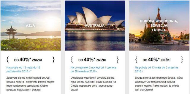 Błyskawiczna wyprzedaż AccorHotels - Azja, Australia, Europa Wschodnia, Szwecja i Rosja