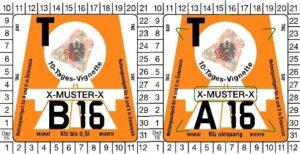 Winiety w Austrii 2016 - wzory winiet 10-dniowych