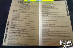 Śniadanie w USA - menu w Millie's Cafe, Los Angeles