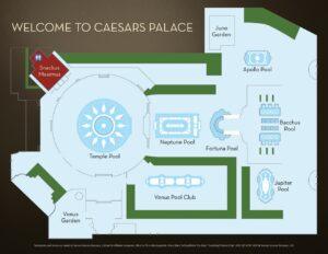 Caesars Palace Las Vegas Plan basenów