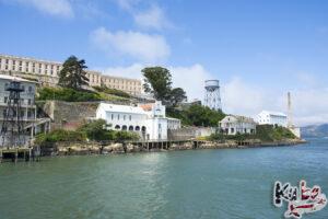 Alcatraz - widok podczas przybijaniu do wyspy