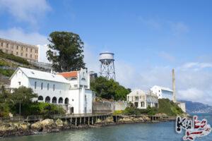 Alcatraz - widok z portu na wyspie