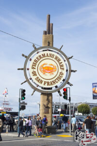 San Francisco - słynny znak Fishermans Wharf