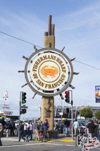San Francisco - słynny znak Fishermans Wharf