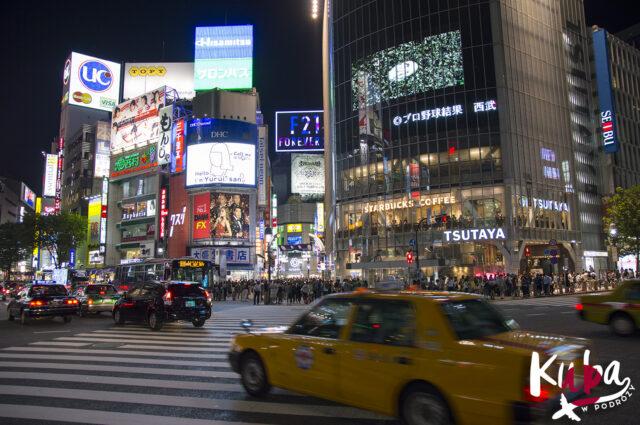 Słynne skrzyżowanie Shibuya w Tokio