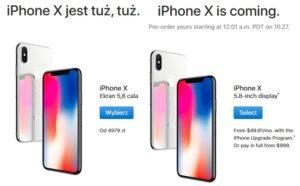 IPhone X - porównanie cen w USA z cenami w Europie