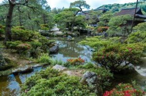 Ogrody przy Srebrnym Pawilonie Ginkaku-ji
