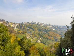 Bergamo - widok na stare miasto