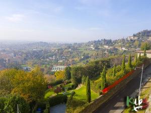 Bergamo - widok z murów weneckich