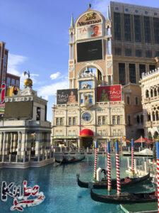 Las Vegas Strip - widok na kanały Venetian