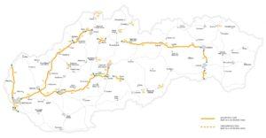 Winiety w Słowacji 2018 - mapa dróg płatnych