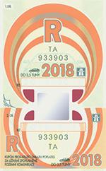 Winiety w Czechach 2018 - wzór winiety rocznej
