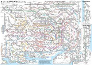 Metro w Tokio - plan linii.