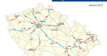 Winiety w Czechach 2020 - mapa dróg płatnych